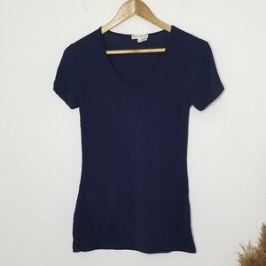 Zenana Outfitters | Blue Scoop Neck  Tshirt